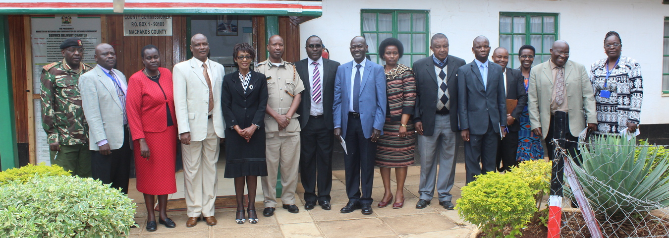 COURTESY CALL TO THE COUNTY COMMISSIONER